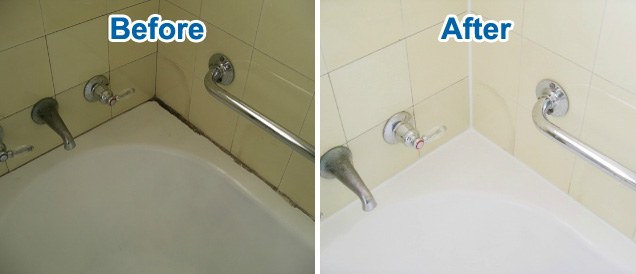 Bath waterproofing and grout cleaning