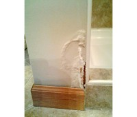 Damage from leaking shower
