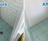 Shower waterproofing and re-grouting / cleaning